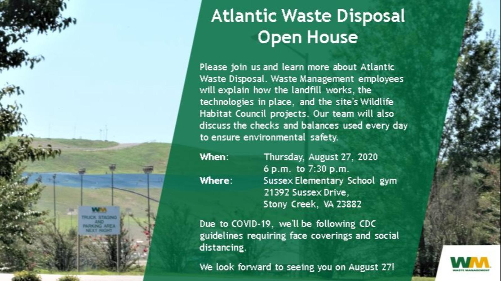 Atlantic Waste Disposal Open House at the Sussex Elementary School Gym