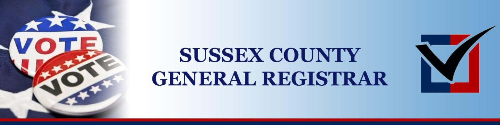 Sussex County General Elections