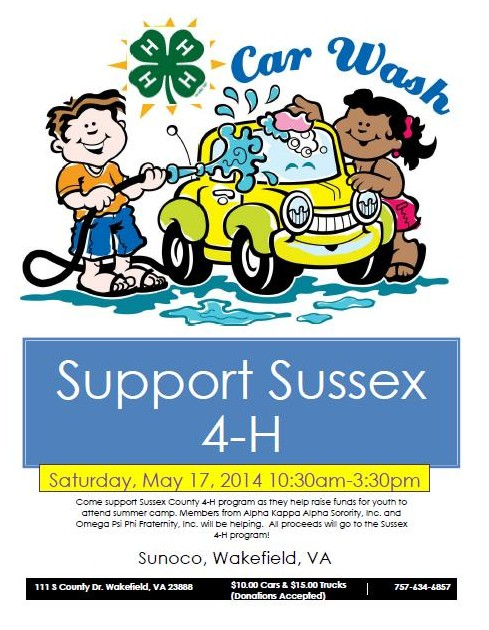 Sussex County 4-H Car Wash