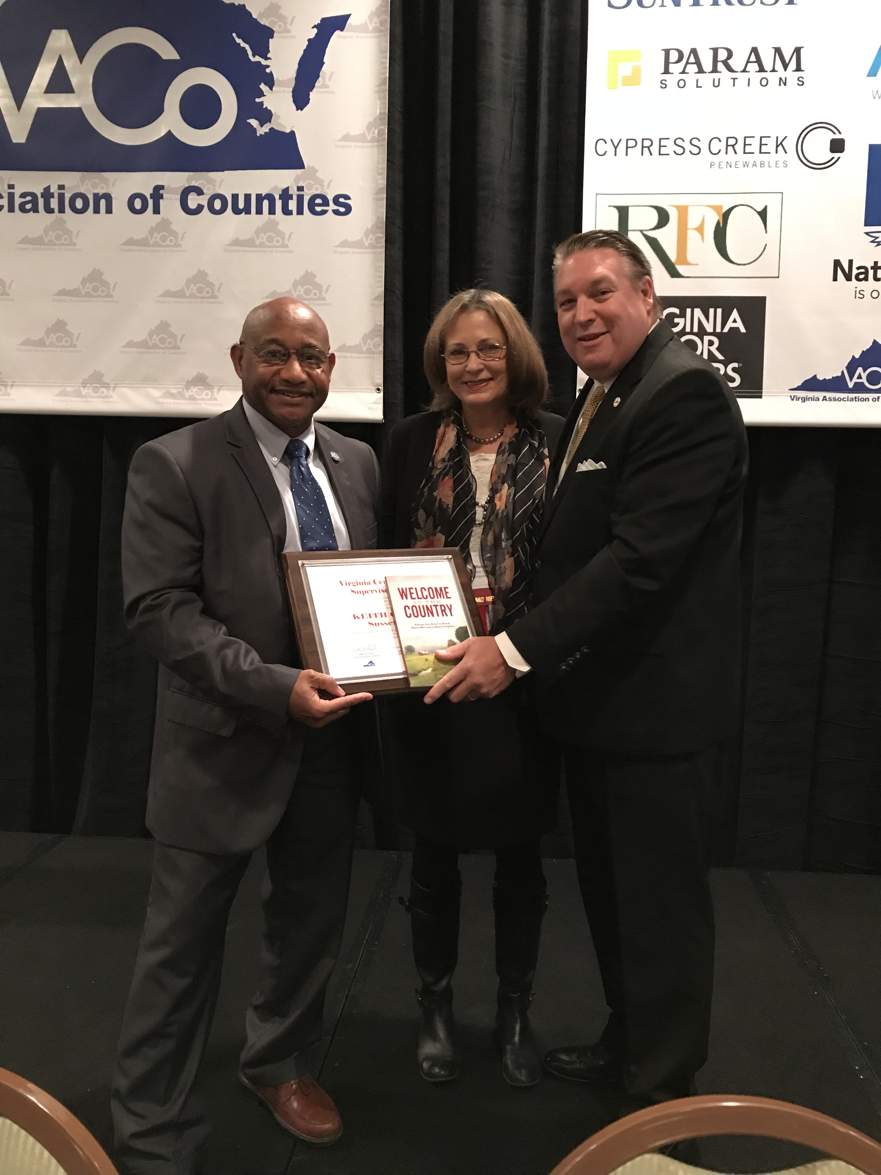 Keith Blowe, Vice-Chairman of Sussex County Board of Supervisors -  Graduate of the Virginia Certified County Supervisors' Program