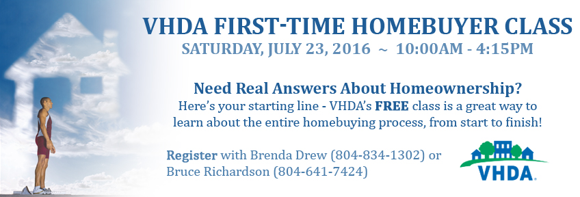 VHDA First-time Homebuyer Class