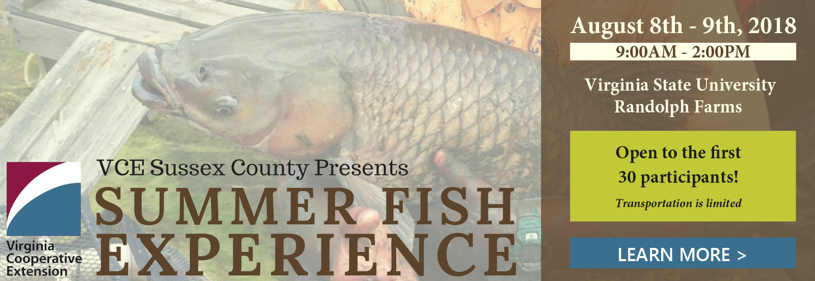 VCE Sussex County Presents Summer Fish Experience