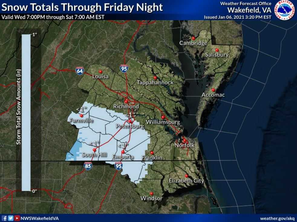 Hazardous Weather Outlook: Winter Weather Possible on Friday