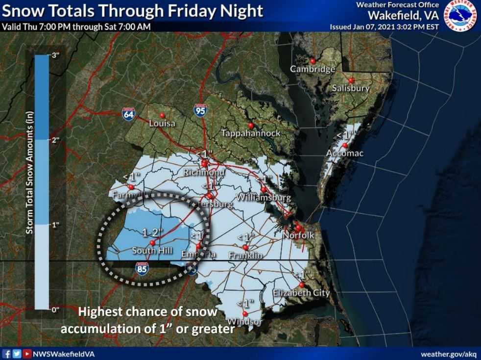 Hazardous Weather Outlook: Winter Weather Update for Friday