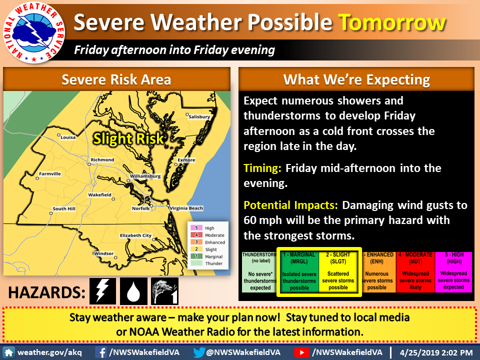 Latest Update on Severe Weather Possible Tomorrow - April 25th