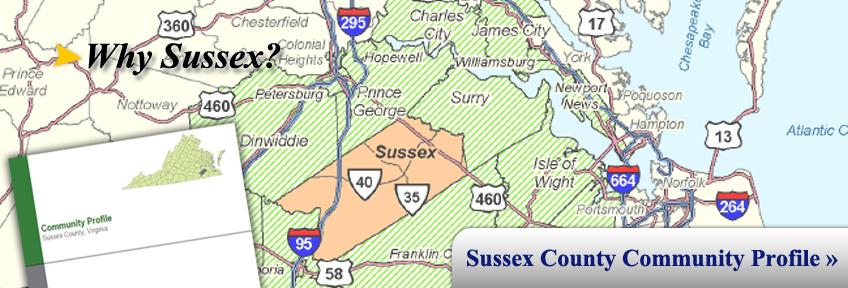 Why Sussex?  View our Community Profile!